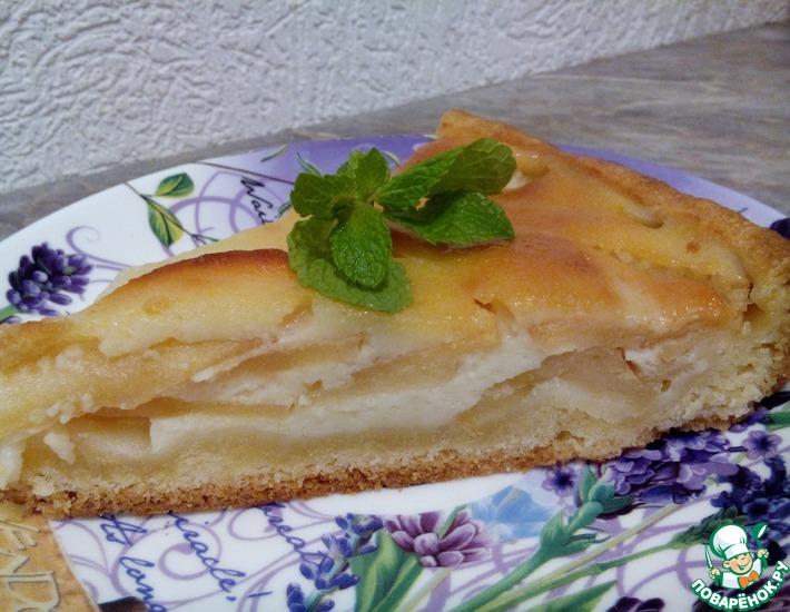 Рецепт: Пирог цветаевский с яблоками