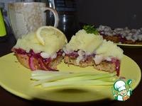 Праздничный тост-салат с сельдью ингредиенты