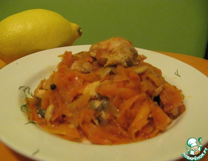 Рецепт: Горбуша под морковным маринадом