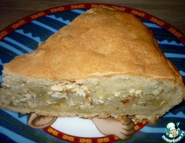Рецепт: Пирог с капустой и адыгейским сыром