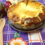 Торт из капусты с мясным фаршем и сыром
