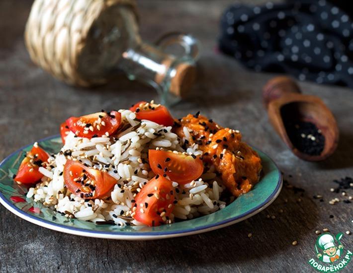 Рецепт: Рис с соусом из перца