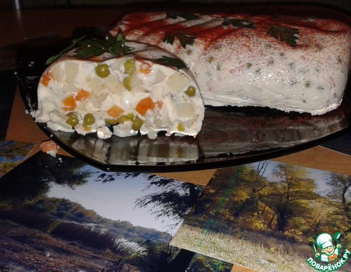 Рецепт: Салат-желе Брызги осени
