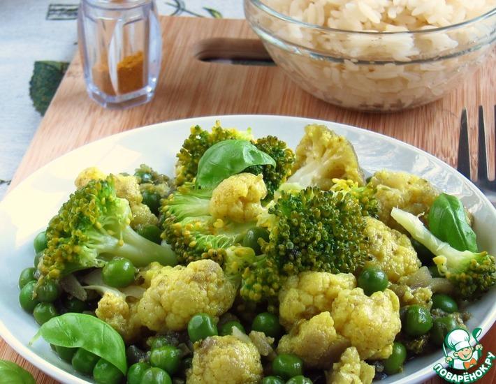 Рецепт: Овощное карри с рисом