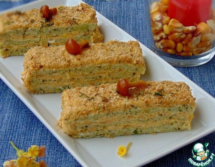 Рецепт: Закусочный торт Дары осени