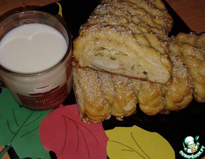 Рецепт: Хлеб на майонезе Золотые косички