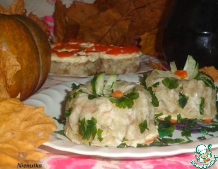 Рецепт: Заливное из рыбы с орегано Осенние мотивы