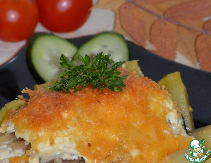 Рецепт: Рыба запеченная по-московски