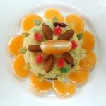 Десертный салат пшенно-цитрусовый