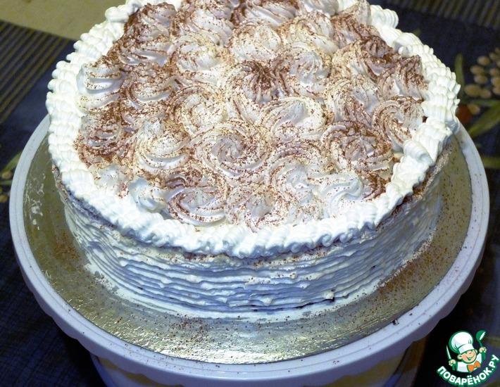 Рецепт: Торт Большая чашечка Мокко