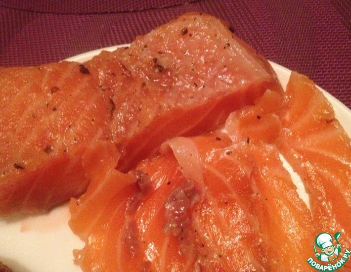 Рецепт: Соленая красная рыба