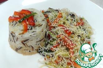 Рецепт: Салат фунчеза к ароматному рису