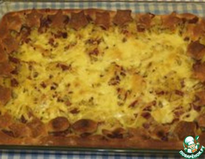 Рецепт: Открытый пирог с картошкой
