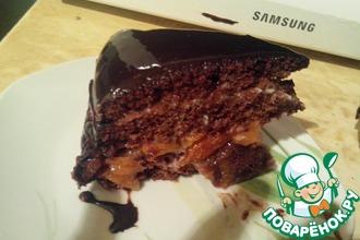 Рецепт: Домашний шоколадный торт Гигант
