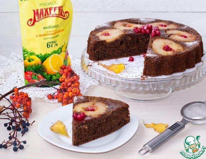 Рецепт: Шоколадный пирог с грушами
