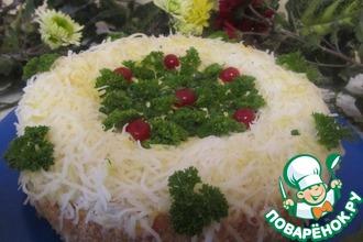 Рецепт: Закусочный торт с сайрой