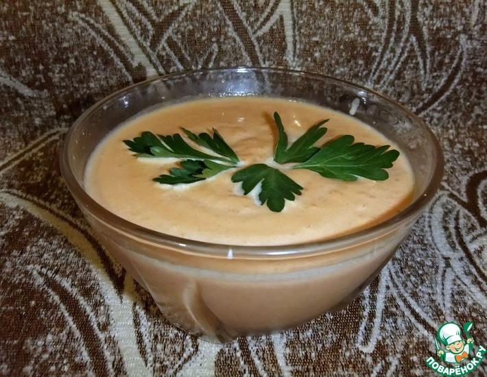 Рецепт: Тыквенный суп-пюре со сливками