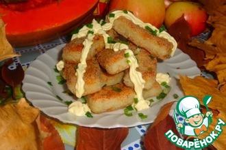 Рецепт: Рисово-рыбные палочки с имбирём и майонезом