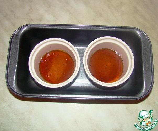 Крем-карамель с запеченной хурмой