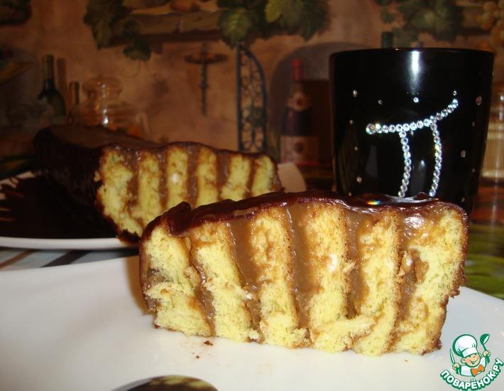 Рецепт: Бисквитный торт Быстрый
