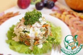 Рецепт: Овощной салат с кальмарами