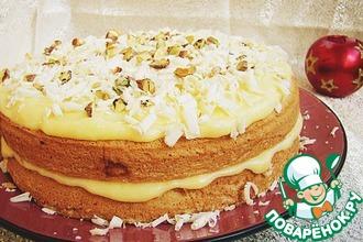 Рецепт: Ангельский торт с лимонным кремом