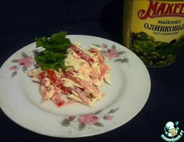 Рецепт: Салат Кленовые листья