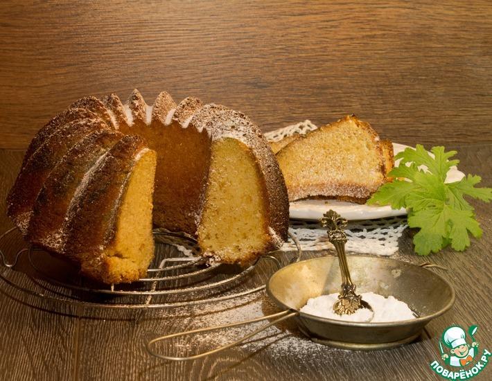 Рецепт: Масляный кекс с ароматом герани