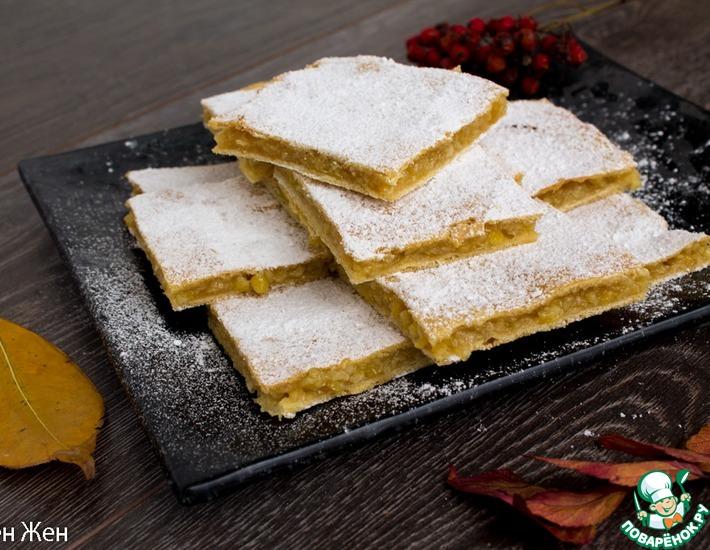 Рецепт: Самый быстрый и простой лимонный пирог