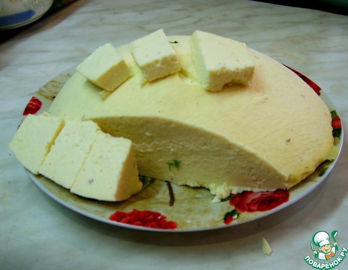 Рецепт: Домашний сыр Нежный