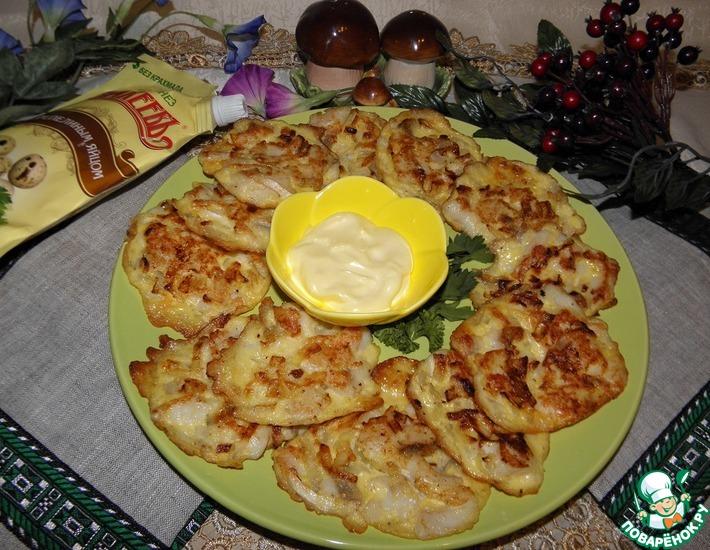 Рецепт: Рыбные оладьи Приморские