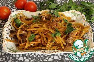 Рецепт: Салат из редьки с мясом