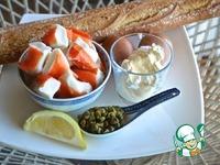 Открытые бутерброды с крабовым салатом ингредиенты