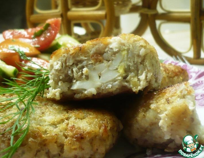 Рецепт: Гречневые зразы с куриным филе