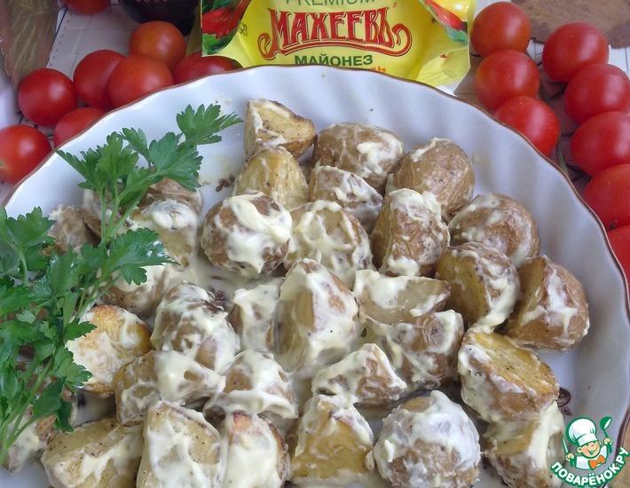Рецепт: Запеченный картофель по-испански