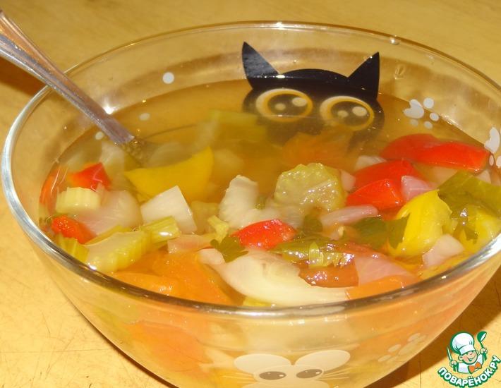 Рецепт: Сельдерейный суп Стройность
