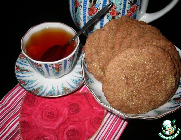 Рецепт: Шоколадно-кофейно-карамельное печенье