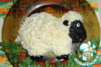 Рецепт: Салат Овечка к Новому году