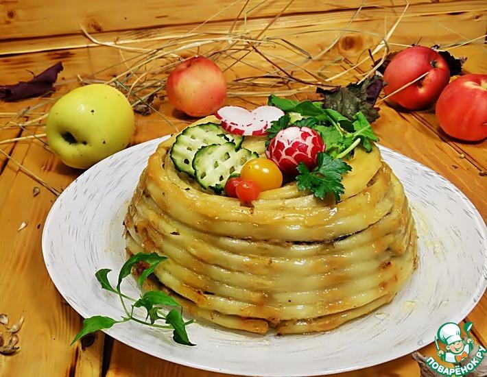 Рецепт: Тимбаль с говяжьим фаршем и овощами