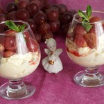 Грушевый крем с виноградом