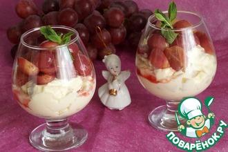 Рецепт: Грушевый крем с виноградом
