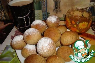 Рецепт: Гречневые пряники с сушеными персиками