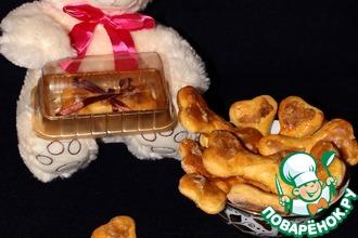 Рецепт: Печенье Сахарная косточка для мопса