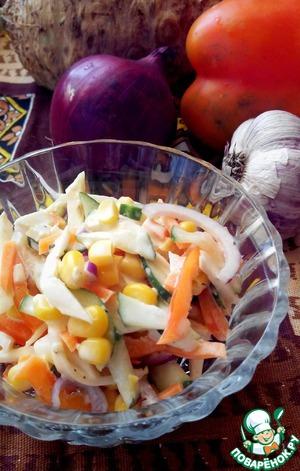 Рецепт Салат осенний овощной