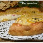 Пирог с сырно-творожной начинкой