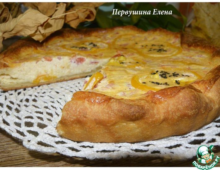 Рецепт: Пирог с сырно-творожной начинкой
