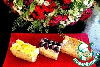 Рецепт: Творожно-маковый тарт с фруктами Три желания
