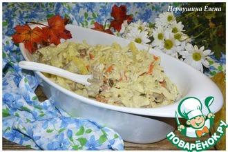 Рецепт: Рагу с капустой и курицей в соусе васаби