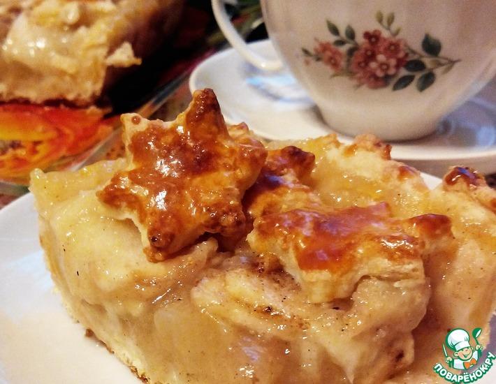 Рецепт: Пирог Яблочный поцелуй