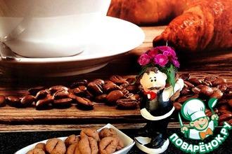 Рецепт: Кофейно-шоколадное печенье с коньяком и творогом